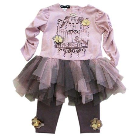 Conjunto vestido bebe 2 kate mack biscotti otoño invierno 2015 2016